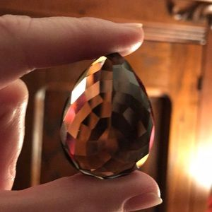Jewelry - Huge 😎 Faceted Topaz/Smoky Quartz Teardrop
